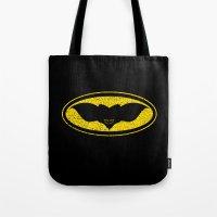 gotham Tote Bags featuring Gotham Gremlin by JVZ Designs