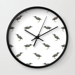 Exotic Birds Pattern Wall Clock