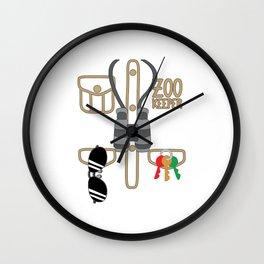 Zoo Keeper T Shirt Zoologist Costume Kids Animal Gift Wall Clock