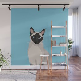 The Regal Siamese Cat Wall Mural