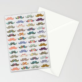 Mustache Mania Stationery Cards