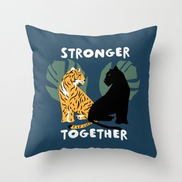 Stronger Together (Blue) Throw Pillow