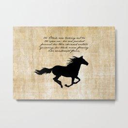 The Black Stallion Metal Print
