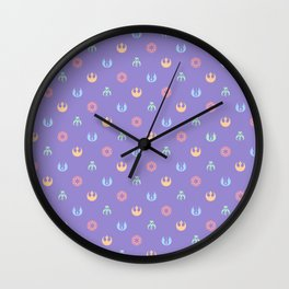 Lilac and Pastels SW Pattern Wall Clock