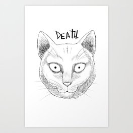 DEATH. (White) Art Print