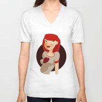 redhead V-neck T-shirts featuring redhead by ihasb33r