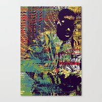 biggie Canvas Prints featuring BIGGIE by Jeremy Richie