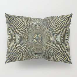 Circular Greek Meander Pattern - Greek Key Ornament Pillow Sham