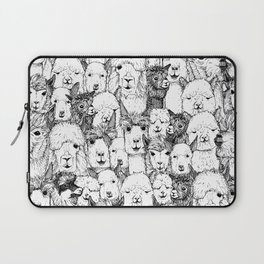 just alpacas black white Laptop Sleeve