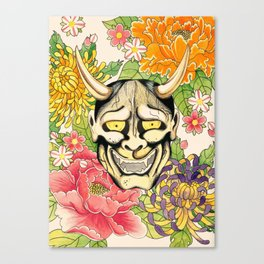 Japanese Hannya Mask Canvas Print
