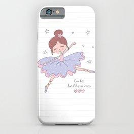 Cute Ballerina iPhone Case