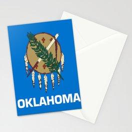 flag of oklahoma-Oklahoma,south,Oklahoman,Okie, usa,america,Tulsa,Norman,Broken Arrow Stationery Cards