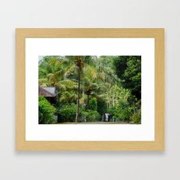 The Forager Through The Trees Framed Art Print