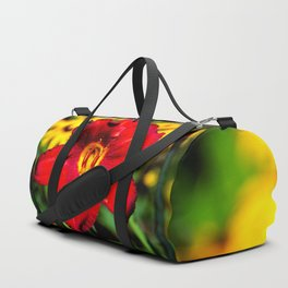Red Lily Duffle Bag