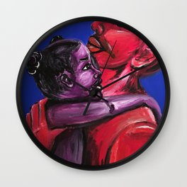 Father's Embrace Wall Clock