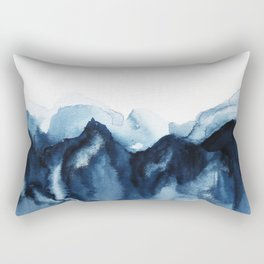 Abstract Indigo Mountains Rectangular Pillow