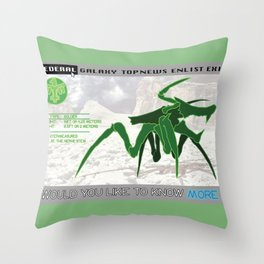 Starship Troopers Warrior Bug Throw Pillow