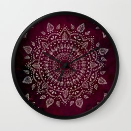 Wine Mandala Wall Clock