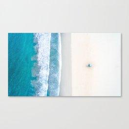 California Beach Aerial View Canvas Print