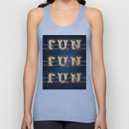 Fun Fun Fun -  Wall-Art for Hotel-Rooms Unisex Tank Top