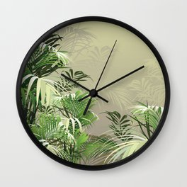 Faded Fronds Wall Clock