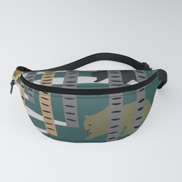 Bears walking in the forest Fanny Pack