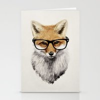 glasses Stationery Cards featuring Mr. Fox by Isaiah K. Stephens