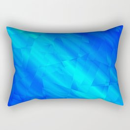 Glowing metallic blue fragments of yellow crystals on irregularly shaped triangles. Rectangular Pillow