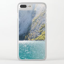 Sparkling Blue Water Alpine Lake Clear iPhone Case