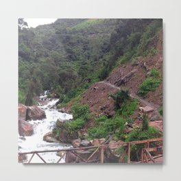 Alpine Bridge Adventure Metal Print