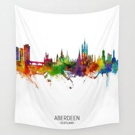 Aberdeen Scotland Skyline Wall Tapestry