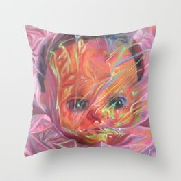 Iridescent Doll / Rosenquist Throw Pillow