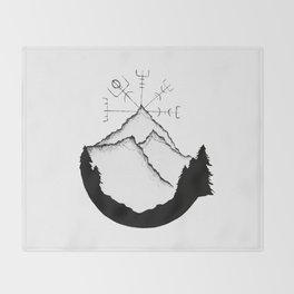 Mountain Compass Throw Blanket