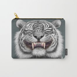Smiling Tiger - monotone Carry-All Pouch