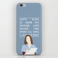 greys anatomy iPhone & iPod Skins featuring Greys Anatomy: Meredith Grey by Holly Ent