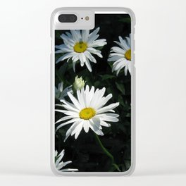 Bunch of Daises Clear iPhone Case