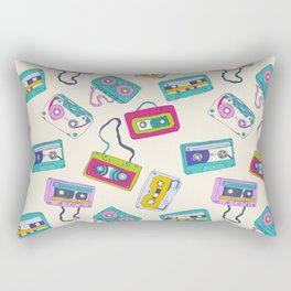 Vintage Cassette Tape Pattern Rectangular Pillow