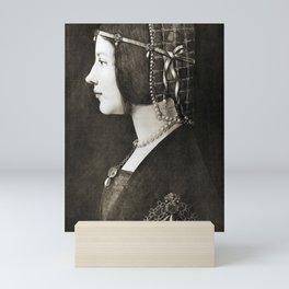 Bianca Sforza by Leonardo da Vinci Mini Art Print