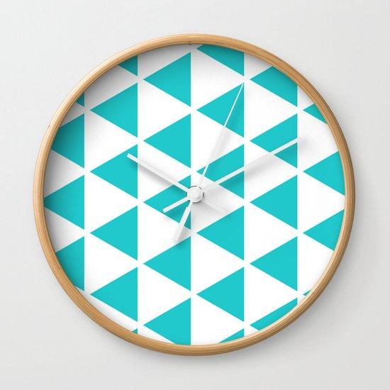 Sleyer Blue on White Pattern Wall Clock