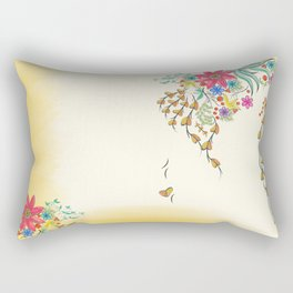 Vibrant Floral to Floral Rectangular Pillow