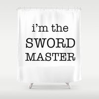 sword Shower Curtains featuring sword master by Word