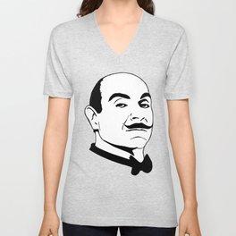 Hercules Poirot. Unisex V-Neck