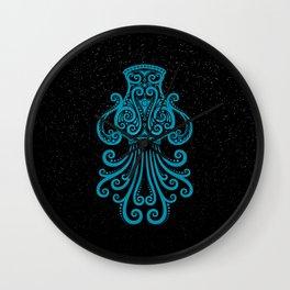 Blue Aquarius Zodiac Sign in the Stars Wall Clock