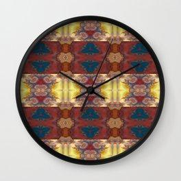 New Color Pyramidal Mandala 72 - Pattern 2 Wall Clock