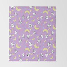 Moody Rabbits Throw Blanket
