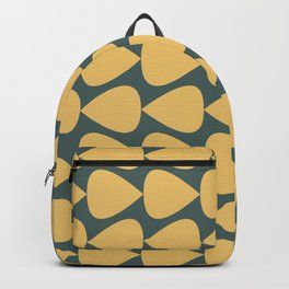 Plectrum Pattern in Mustard Yellow and Teal  Backpack