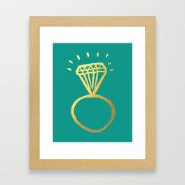 Diamond Ring Framed Art Print
