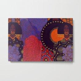 African American Masterpiece 'Nubian Queens' by Vittorio Zecchin Metal Print