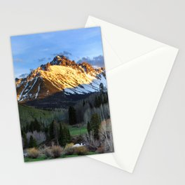 Mt Sneffels Sunset in Ridgway, Colorado Stationery Cards
