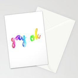 gay ok ::: variant Stationery Cards